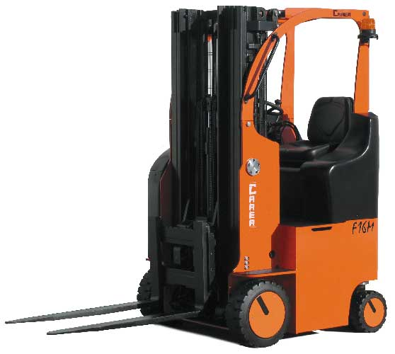 Compact 4 wheel forklift with unique 180 degree steering