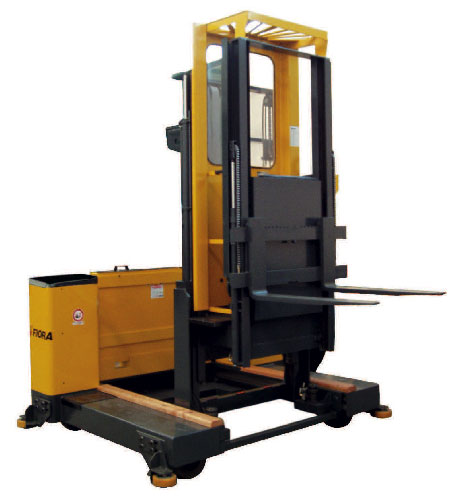 Man up side loading forklift