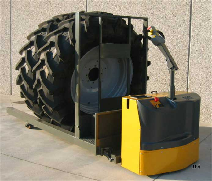 Heavy duty tire transport jack