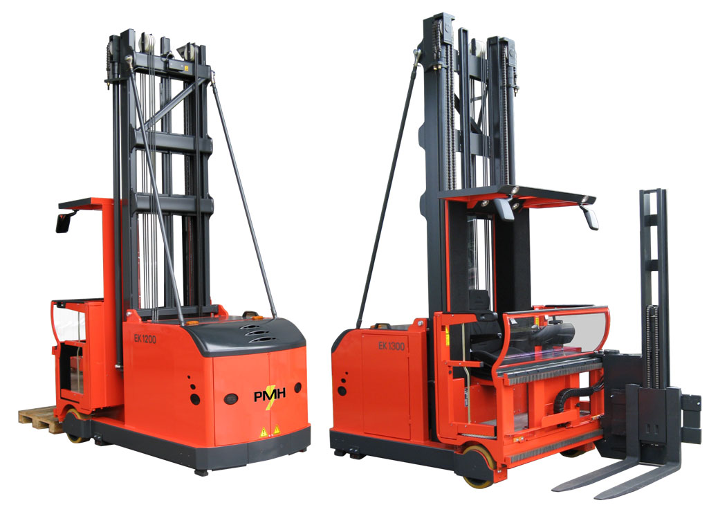 Front and rear view Steinbock turret forklifts